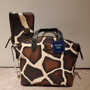 NWT Authentic Dooney & Burke Bag and wristlet